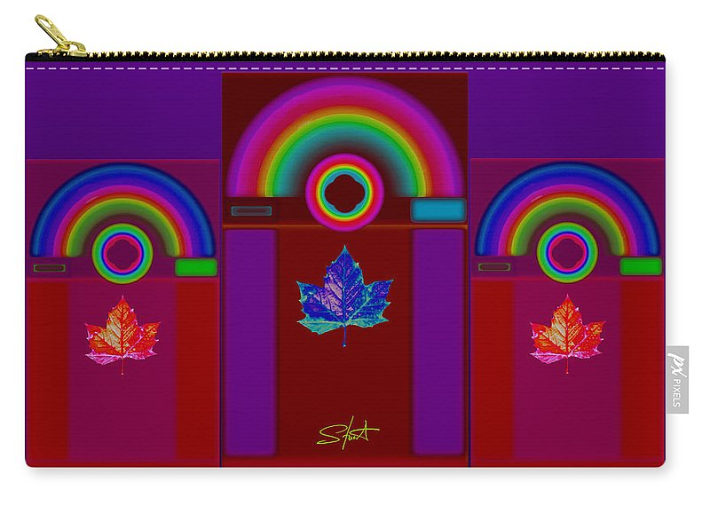 Classical Carry-all Pouch featuring the digital art Tuscan Storm by Charles Stuart