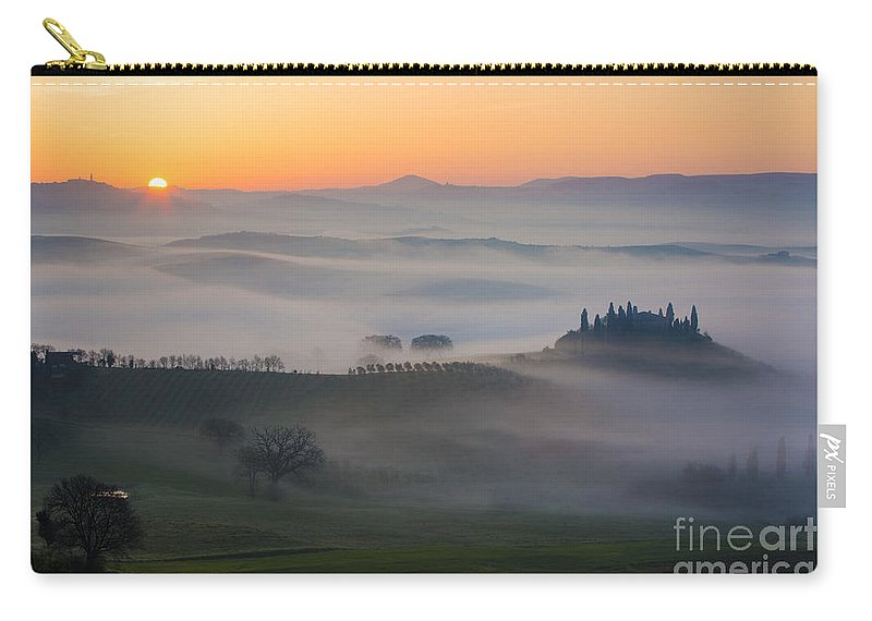 April Carry-all Pouch featuring the photograph Tuscan Sunrise by Brian Jannsen