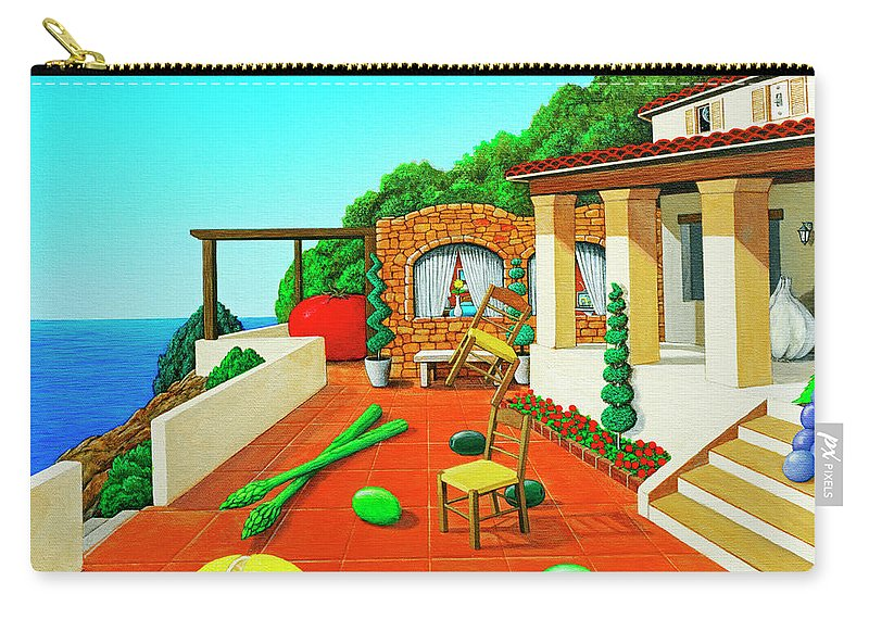 Tuscan Carry-all Pouch featuring the painting Tuscan Vacation by Snake Jagger