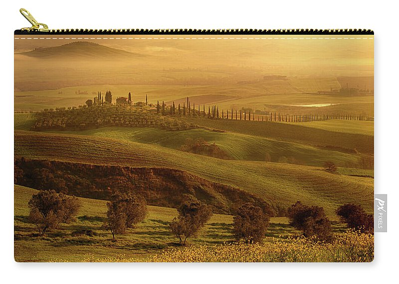 Tuscany Carry-all Pouch featuring the photograph Tuscan Villa by Rob Davies