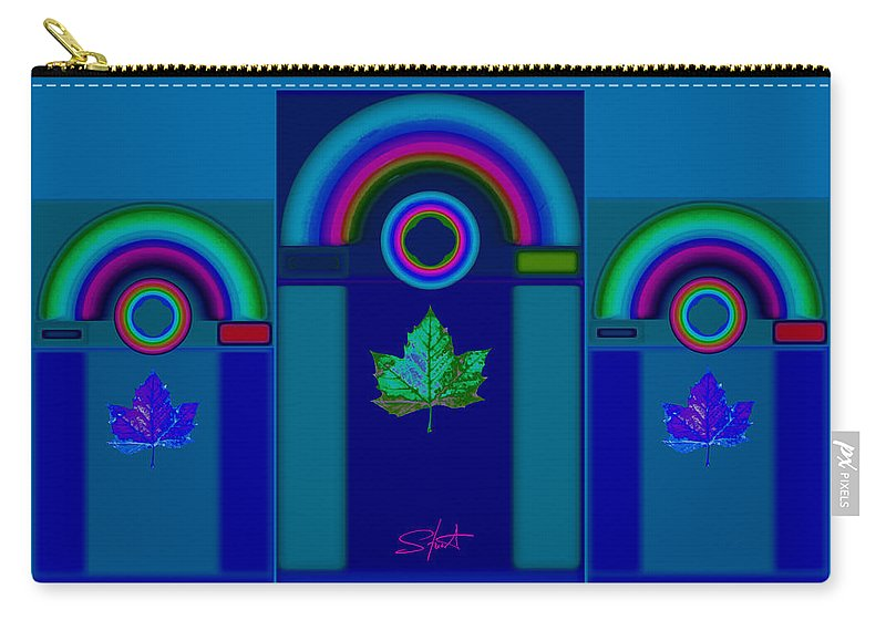 Classical Carry-all Pouch featuring the digital art Tuscan Winter by Charles Stuart
