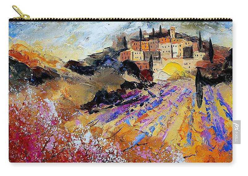 Provence Carry-all Pouch featuring the painting Tuscany 56 by Pol Ledent