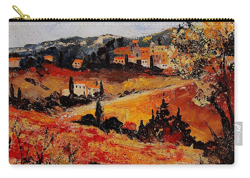 Provence Carry-all Pouch featuring the painting Tuscany 56n by Pol Ledent