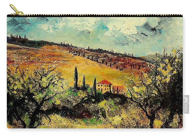 Provence Carry-all Pouch featuring the painting Tuscany 67 by Pol Ledent