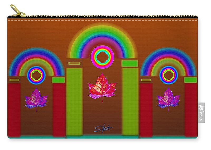Classical Carry-all Pouch featuring the painting Tuscon Autumn by Charles Stuart