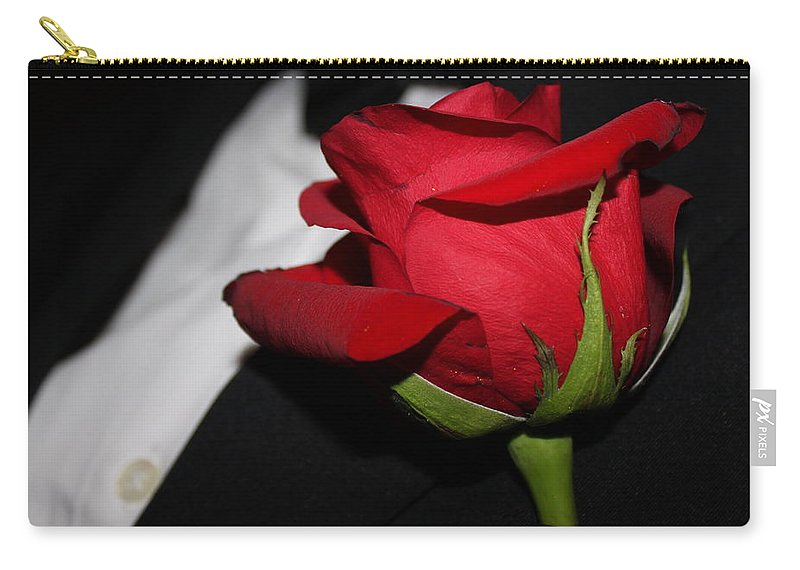 Tuxedo Carry-all Pouch featuring the photograph Tuxedo Boutonneire by Lauri Novak
