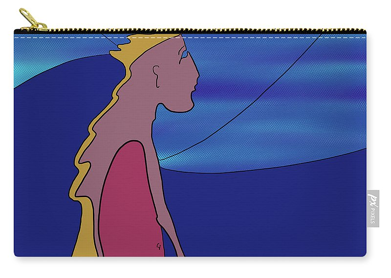 Quiros Carry-all Pouch featuring the digital art Twilight 2 by Jeff Quiros