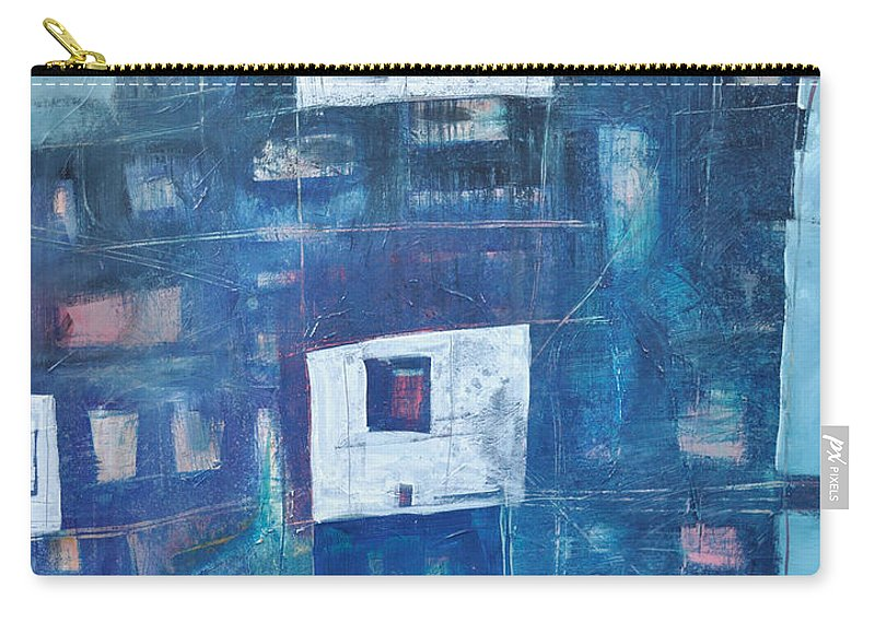 Abstract Carry-all Pouch featuring the painting Twilight Highrise by Tim Nyberg