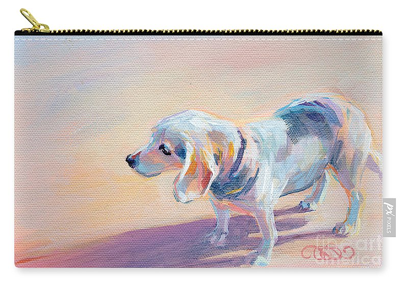 Beagle Carry-all Pouch featuring the painting Twilight by Kimberly Santini