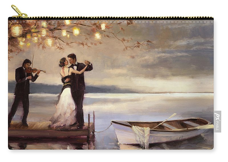 Romantic Carry-all Pouch featuring the painting Twilight Romance by Steve Henderson