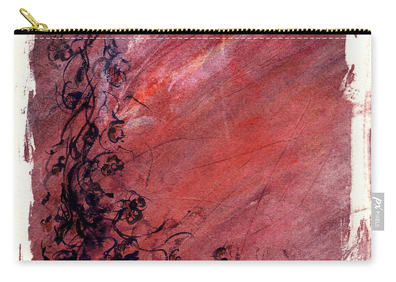 Floral Carry-all Pouch featuring the painting Twilight Rose by Rachel Christine Nowicki