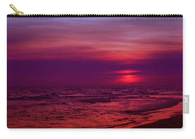 Panama City Beach Carry-all Pouch featuring the photograph Twilight by Sandy Keeton