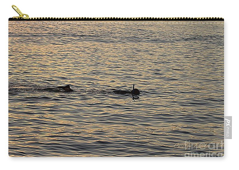 Twilight Carry-all Pouch featuring the photograph Twilight Snorkel 2 by Carolyn Parker