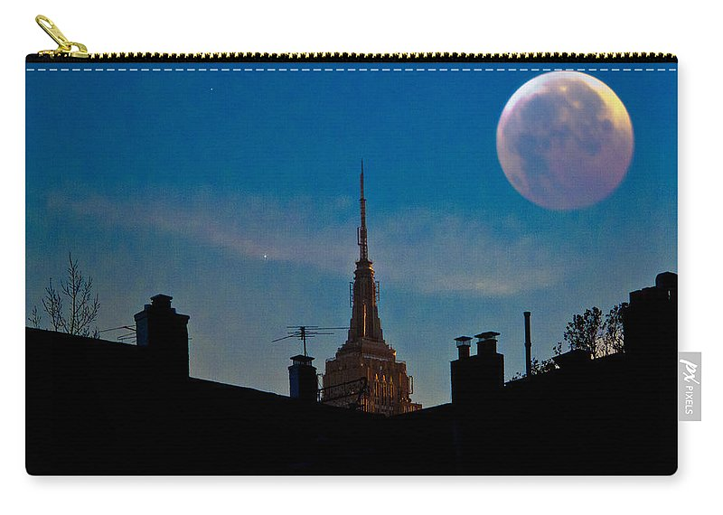 New York Carry-all Pouch featuring the photograph Twilight Time In The City by Chris Lord