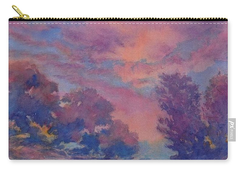 Landscape Carry-all Pouch featuring the painting Twilight Time, No. 2 by Virgil Carter