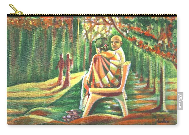 Twilight Carry-all Pouch featuring the painting Twilight Years by Usha Shantharam