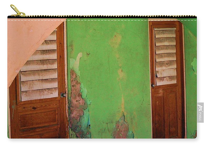 Doors Carry-all Pouch featuring the photograph Twin Doors by Debbi Granruth