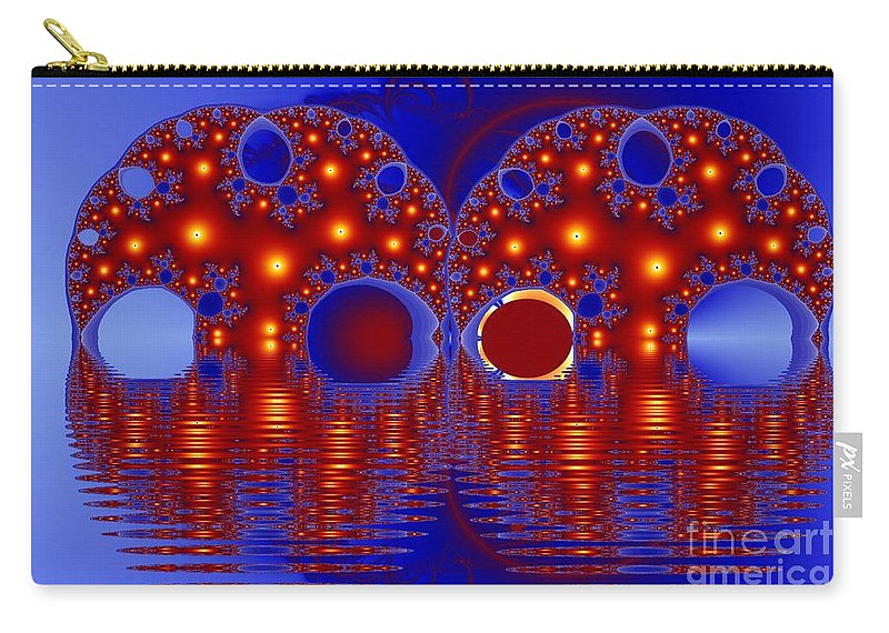 Twins Carry-all Pouch featuring the digital art Twins by Ron Bissett