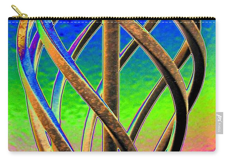 Abstract Carry-all Pouch featuring the digital art Twist And Shout 2 by Will Borden