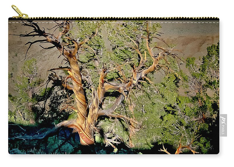 Bristlecone Carry-all Pouch featuring the photograph Twisted Bristlecone by Albert Seger