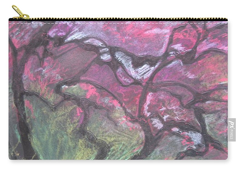 Pastel Carry-all Pouch featuring the drawing Twisted Cherry by Leah Tomaino