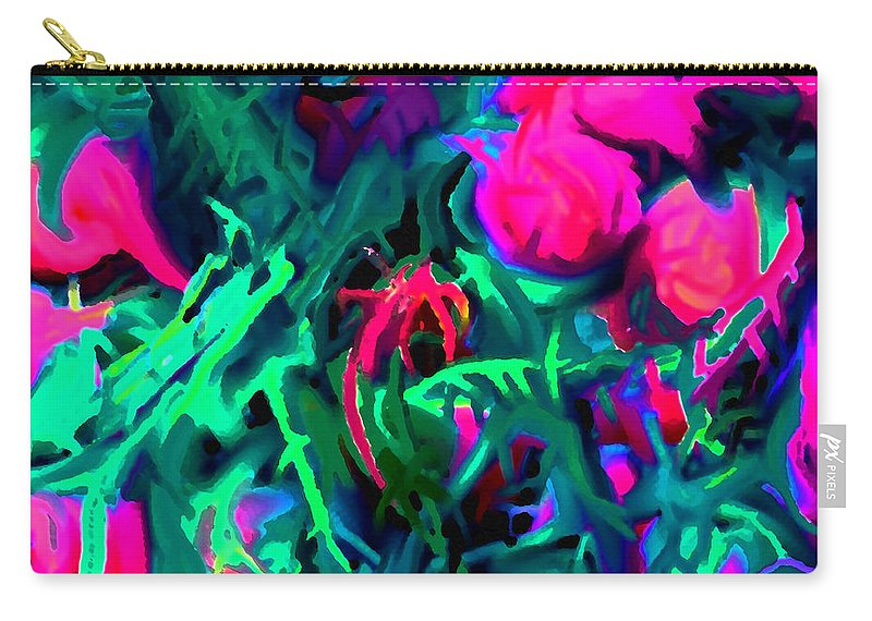 Abstract Carry-all Pouch featuring the digital art Twisted by Ian MacDonald