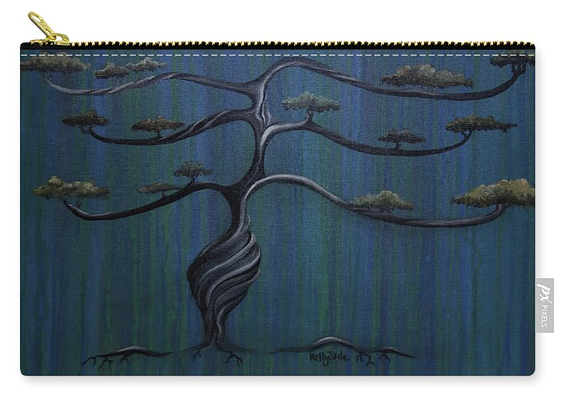 Tree Carry-all Pouch featuring the painting Twisted Oak by Kelly Jade King