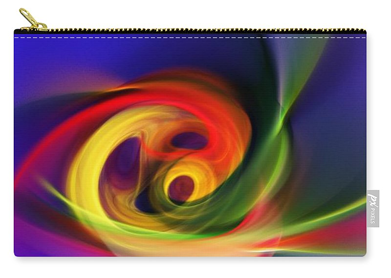 Fine Art Carry-all Pouch featuring the digital art Twister by David Lane