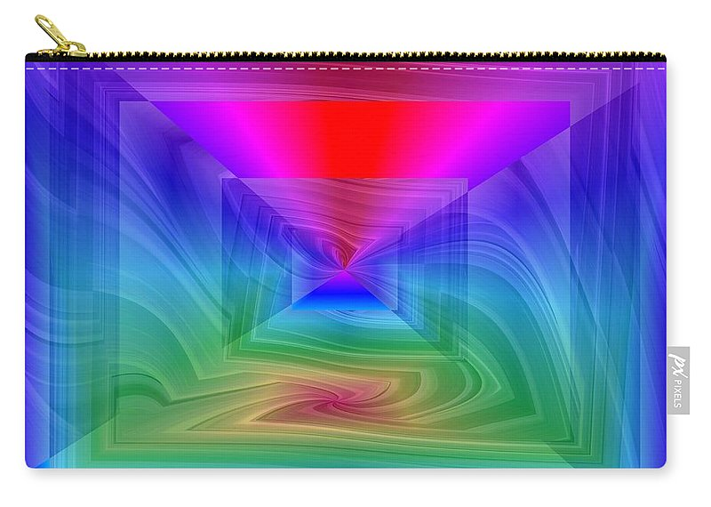 Twister Carry-all Pouch featuring the digital art Twister In A Prism by Tim Allen