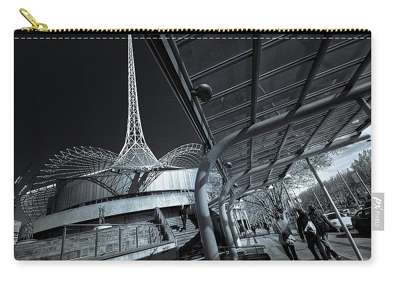 Architecture Carry-all Pouch featuring the photograph Twister by Wayne Sherriff