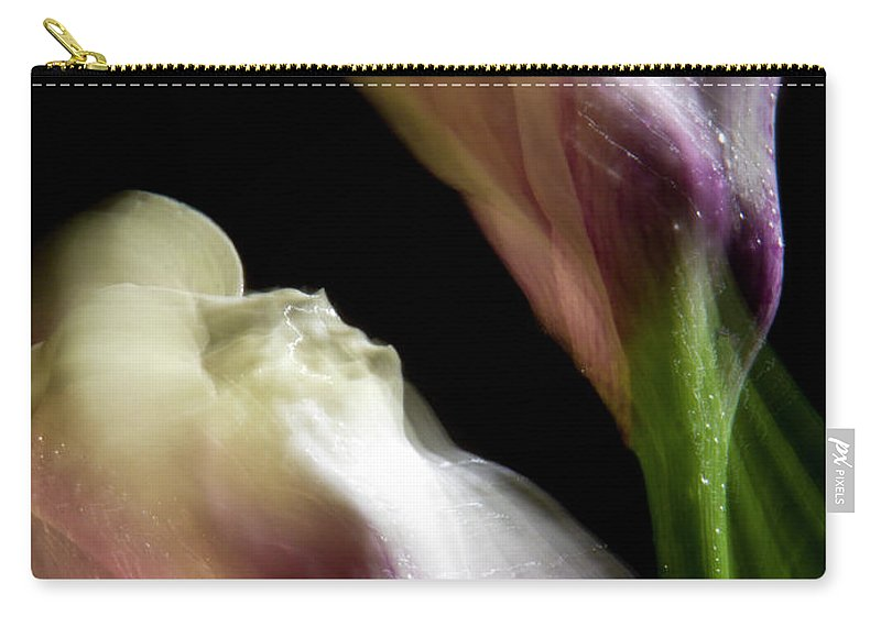 Color Carry-all Pouch featuring the photograph Twisting Cala Lily Two by Frederic A Reinecke
