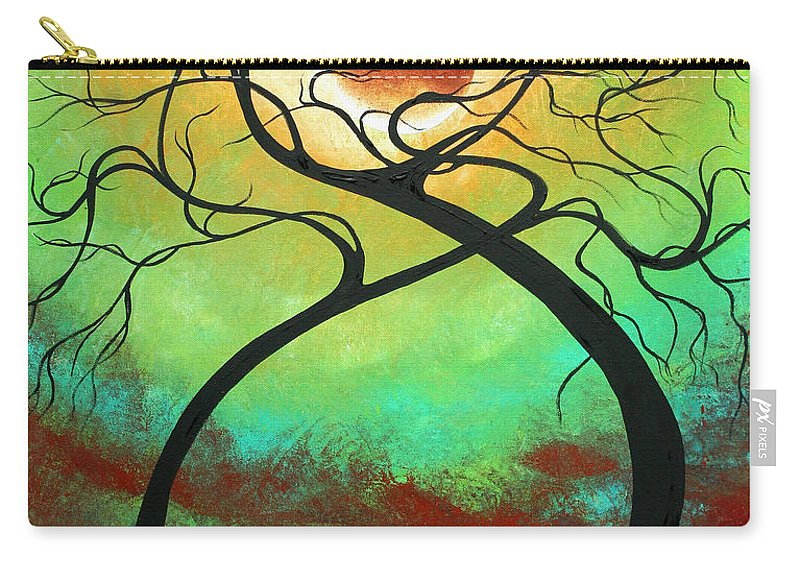 Landscape Carry-all Pouch featuring the painting Twisting Love II Original Painting By Madart by Megan Duncanson