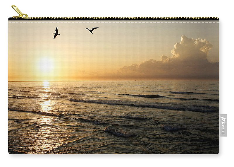 Beach Carry-all Pouch featuring the photograph Two Birds At Breakast by Marilyn Hunt