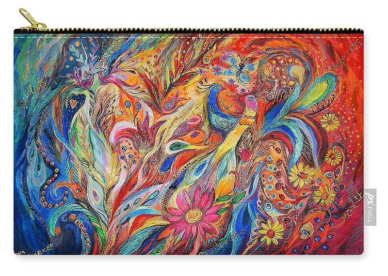 Original Carry-all Pouch featuring the painting Two Couples by Elena Kotliarker