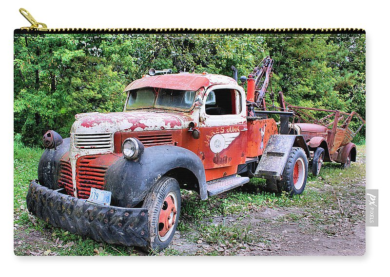 Old Truck Carry-all Pouch featuring the photograph Two for One by Kristin Elmquist
