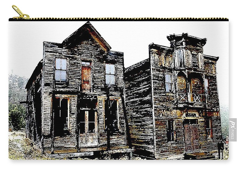 Ghost Town Carry-all Pouch featuring the photograph Two Ghosts by Nelson Strong