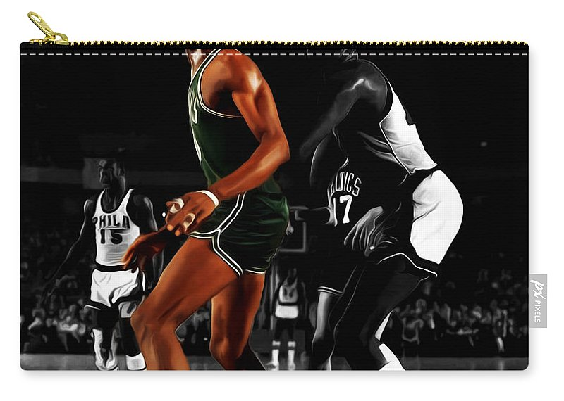 Bill Russell Carry-all Pouch featuring the digital art Two Giants by Brian Reaves