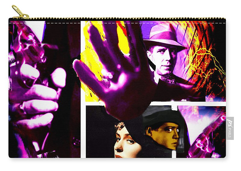 Humphrey Bogart Carry-all Pouch featuring the digital art Two Guys Two Guns And A Dame by Seth Weaver