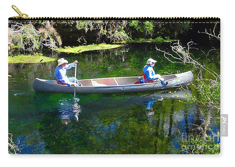 Canoe Carry-all Pouch featuring the photograph Two in a Canoe by David Lee Thompson