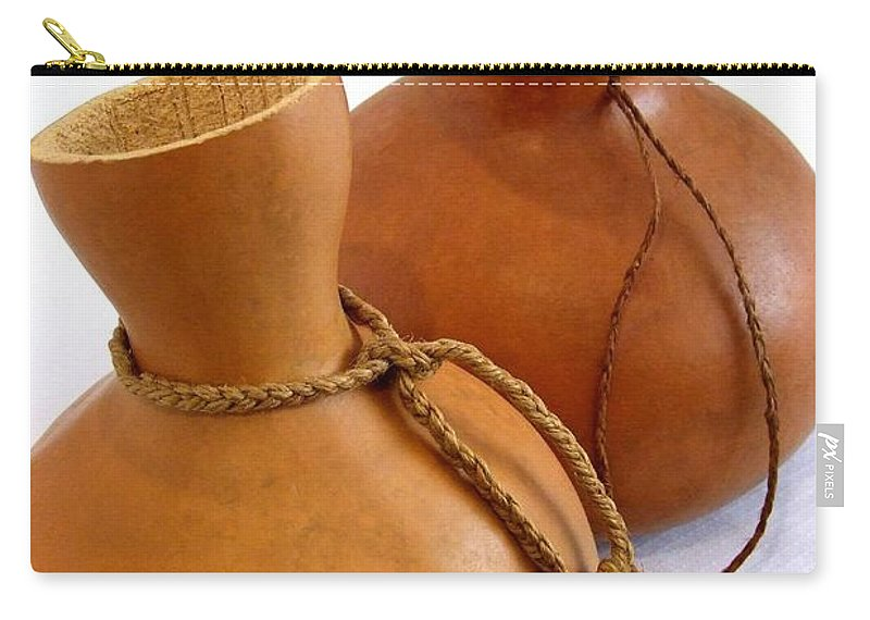 Mary Deal Carry-all Pouch featuring the photograph Two Ipu On White by Mary Deal
