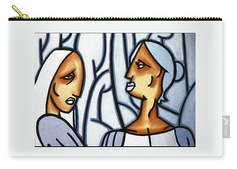 Portrait Carry-all Pouch featuring the painting Two Ladies by Thomas Valentine