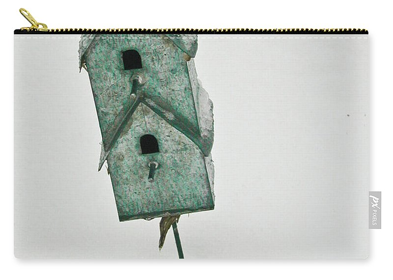 Birdhouse Carry-all Pouch featuring the photograph Two Level Bird House by Douglas Barnett