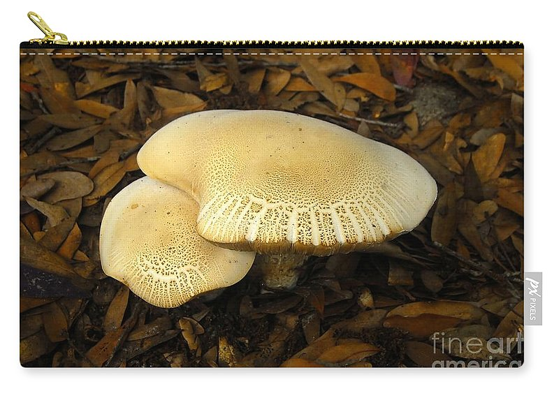 Mushrooms Carry-all Pouch featuring the photograph Two Mushrooms by David Lee Thompson