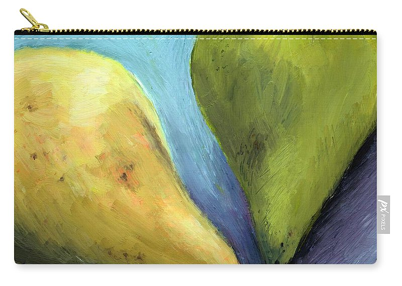 Pear Carry-all Pouch featuring the painting Two Pears Still Life by Michelle Calkins