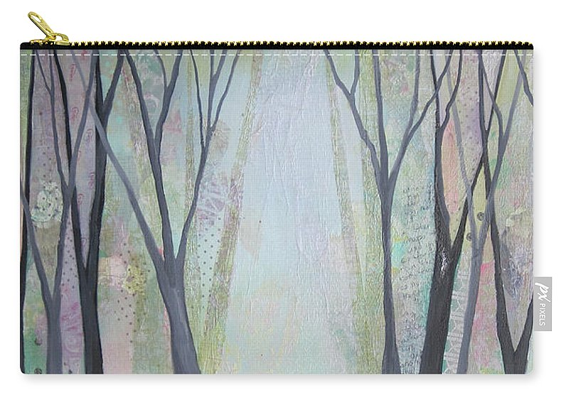 Tree Carry-all Pouch featuring the painting Two Roads I by Shadia