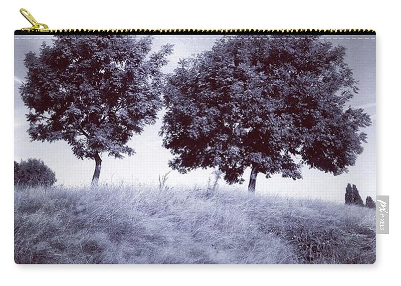 Snapseed Carry-all Pouch featuring the photograph Two Rowans the Cloddies, Nuneaton by John Edwards