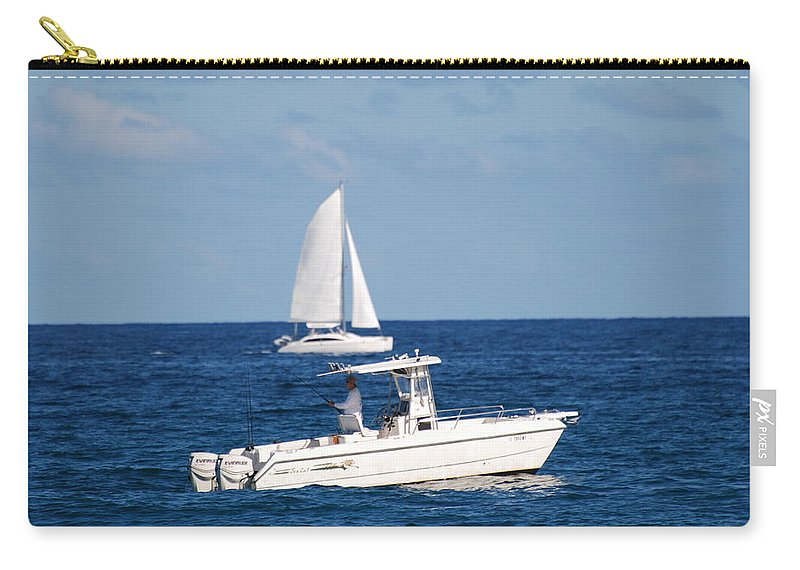 Sea Scape Carry-all Pouch featuring the photograph Two Ships That Pass Thru The Day by Rob Hans