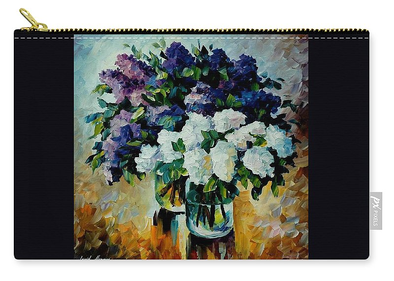 Painting Carry-all Pouch featuring the painting Two Spring Colors by Leonid Afremov