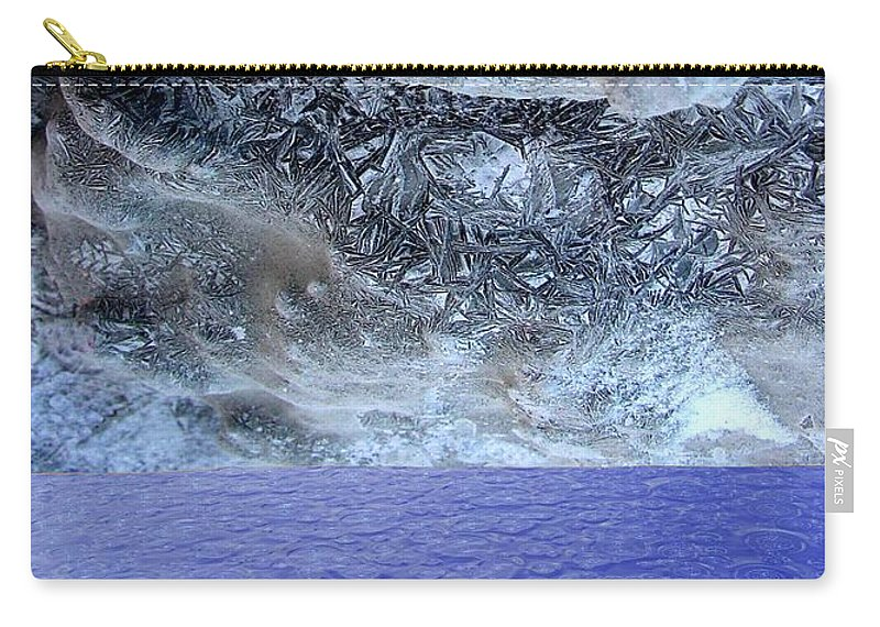 Photo Montage Carry-all Pouch featuring the mixed media Two States by Ron Bissett