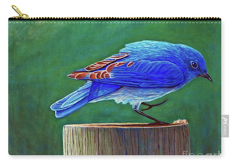 Bluebird Carry-all Pouch featuring the painting Two Step by Brian Commerford